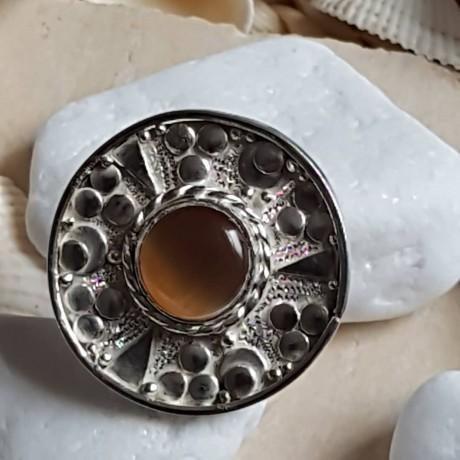 Massive Sterling silver ring with natural cat 's eye stone, Bijuterii de argint lucrate manual, handmade