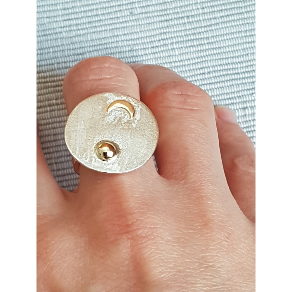 Sterling silver  and gold rings Specks of Sparkle