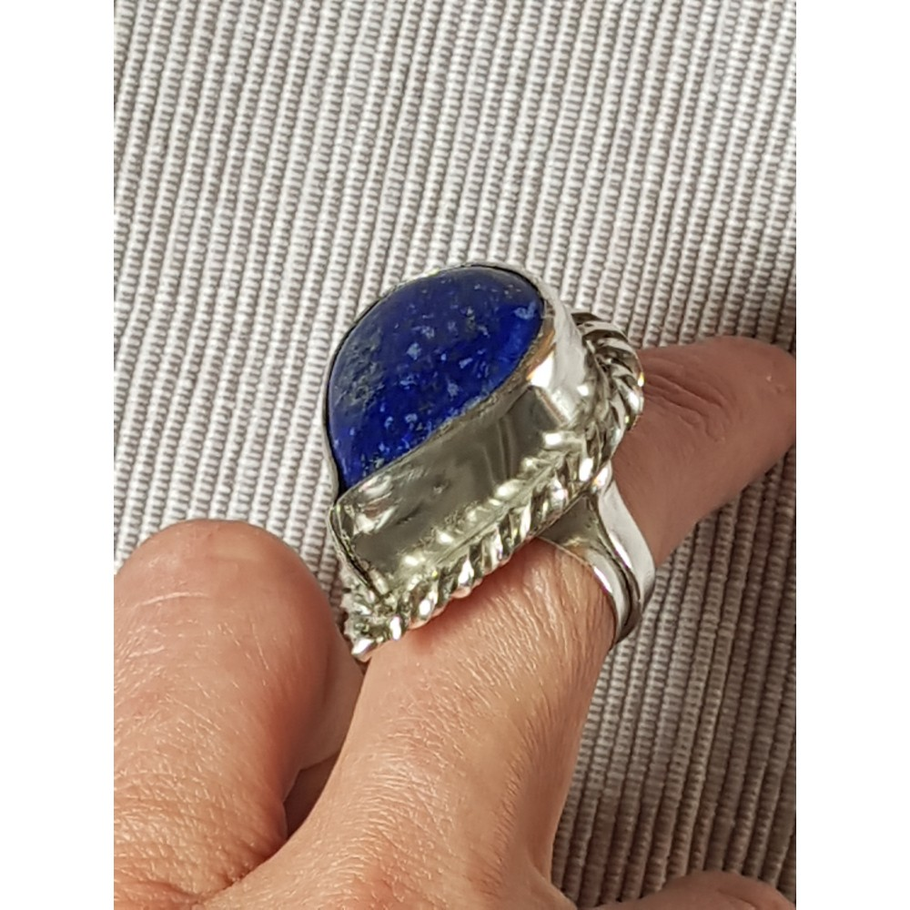 Large Sterling Silver ring Perched Blues