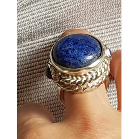 Sterling silver ring with natural lapislazuli stones, Lapis Worthy, Bijuterii de argint lucrate manual, handmade