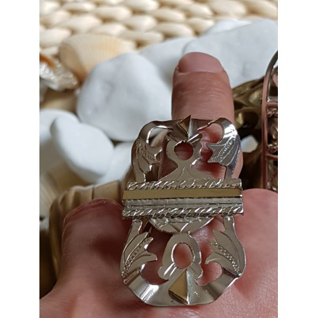 Gold and Sterling silver ring, Bijuterii de argint lucrate manual, handmade