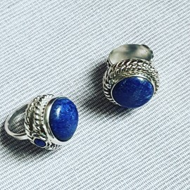 Massive Sterling silver ring with natural lapislazuli Blue View, Bijuterii de argint lucrate manual, handmade