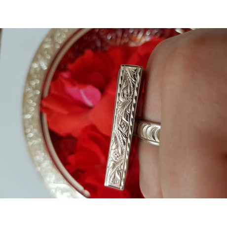 Inel argint 925 cu agat mare dreptunghiular, hanmade& handcrafted, Bijuterii de argint lucrate manual, handmade