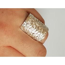 Sterling silver ring Love Safari