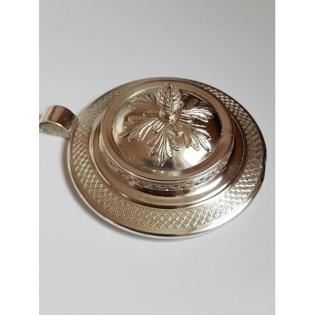 Sterling silver pendant Lusting, Bijuterii de argint lucrate manual, handmade