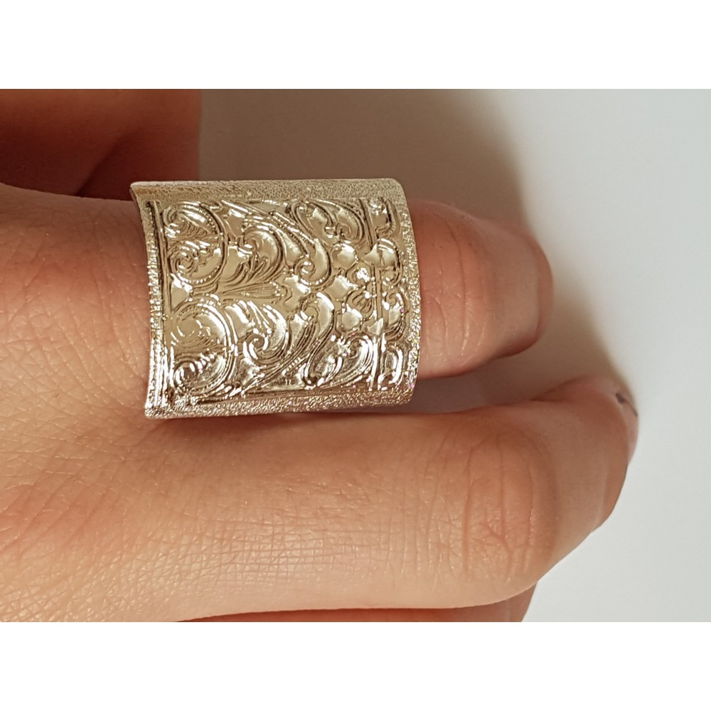 Sterling silver ring Mapping