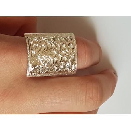 Sterling silver ring Mapping, Bijuterii de argint lucrate manual, handmade