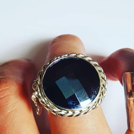 Sterling silver ring & Swarovski crystal Crystal Plush, Bijuterii de argint lucrate manual, handmade