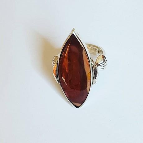 Sterling silver ring and natural Jasper stone Jasper Bone, Bijuterii de argint lucrate manual, handmade