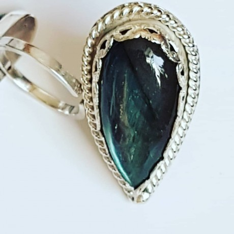Sterling silver ring with natural labradorite Host to Sparkles, Bijuterii de argint lucrate manual, handmade