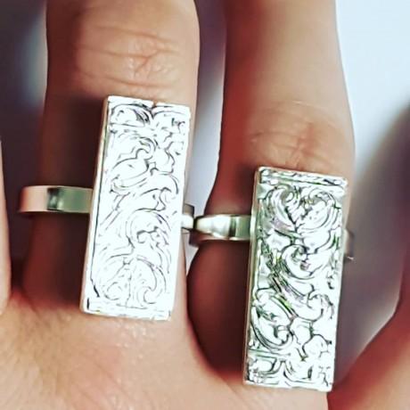 Sterling silver rings  Finer Strips, Bijuterii de argint lucrate manual, handmade