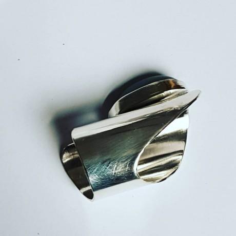 Sterling silver ring with natural aventurine Agona, Bijuterii de argint lucrate manual, handmade