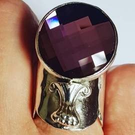 Sterling silver ring with Swarovski crystal Mercurial