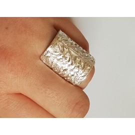 Sterling silver ring Safehaven