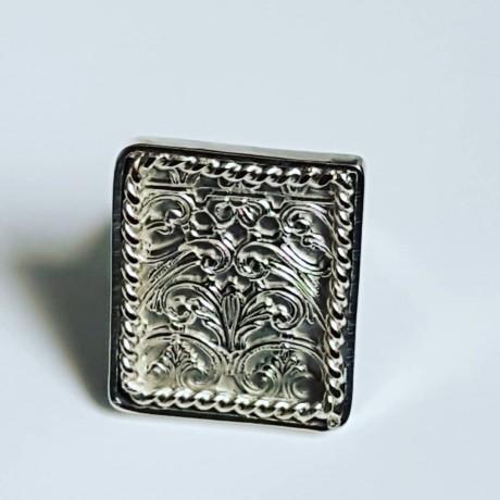 Sterling silver ring Flood of Light, Bijuterii de argint lucrate manual, handmade