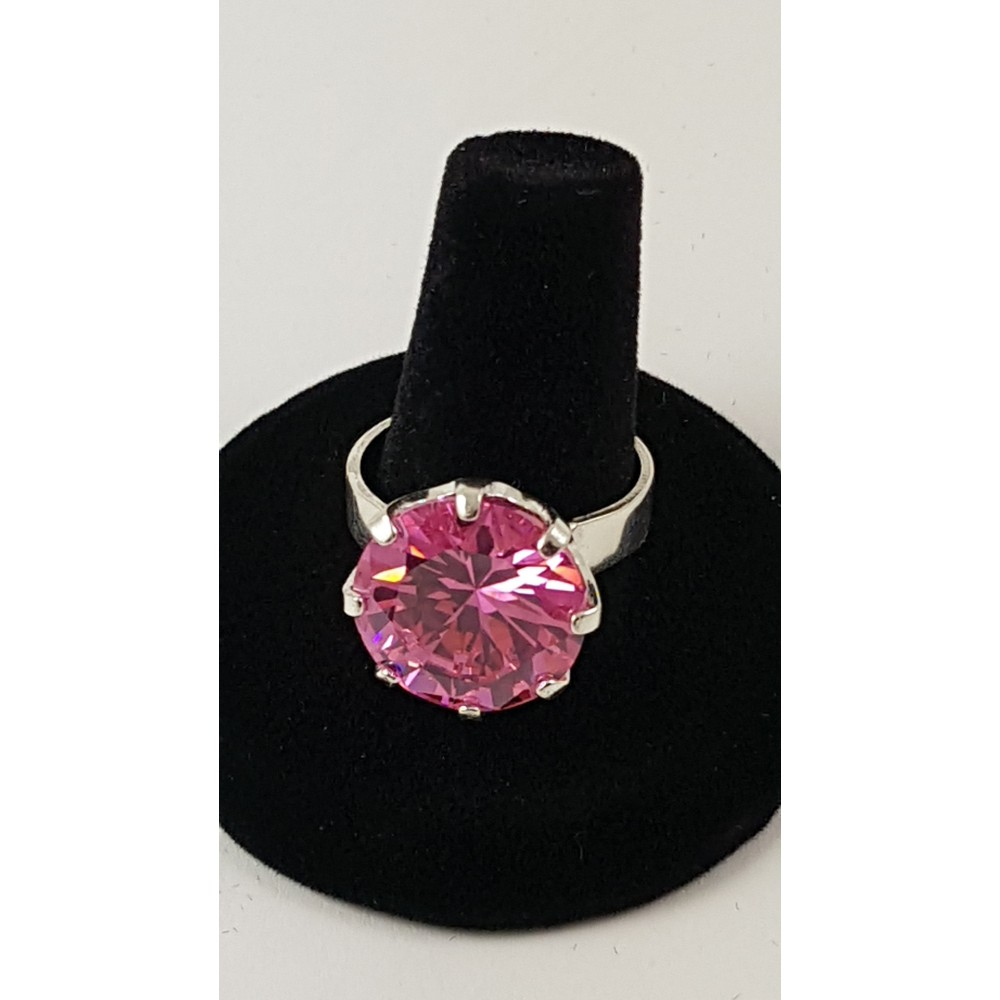 Sterling silver ring Fussy Pinks