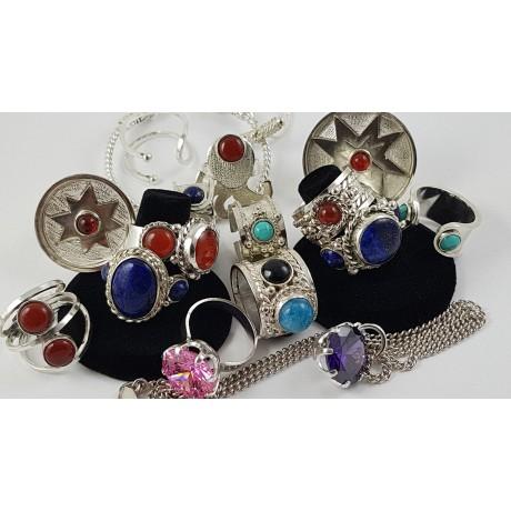 Sterling silver ring Fussy Pinks, Bijuterii de argint lucrate manual, handmade