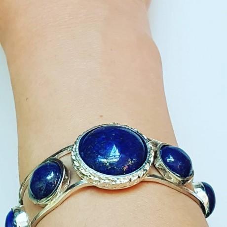Sterling silver cuff Blue Feed, Bijuterii de argint lucrate manual, handmade