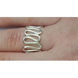 Sterling silver ring Wavish