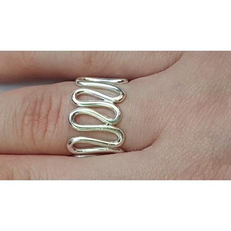 Sterling silver ring Wavish, Bijuterii de argint lucrate manual, handmade