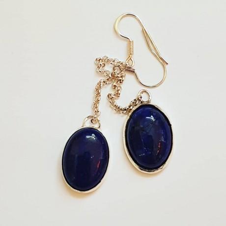 Sterling silver earrings Blue Longin', Bijuterii de argint lucrate manual, handmade