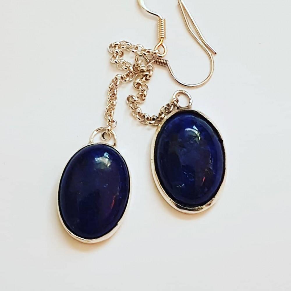 Sterling silver earrings Blue Longin'
