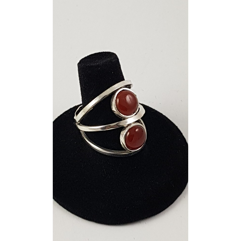Sterling silver ring Multiplied by Red