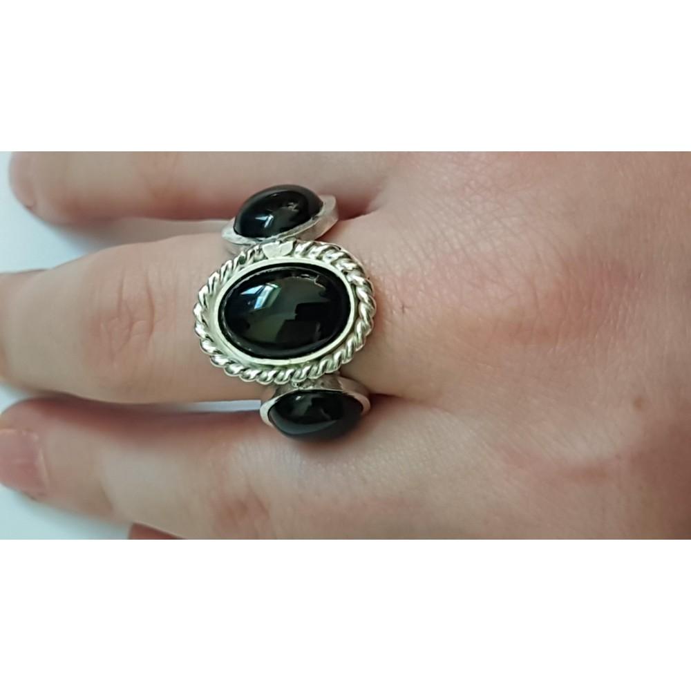 Sterling silver ring Dark Catchers