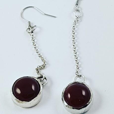 Sterling silver earrings On the Go, Bijuterii de argint lucrate manual, handmade