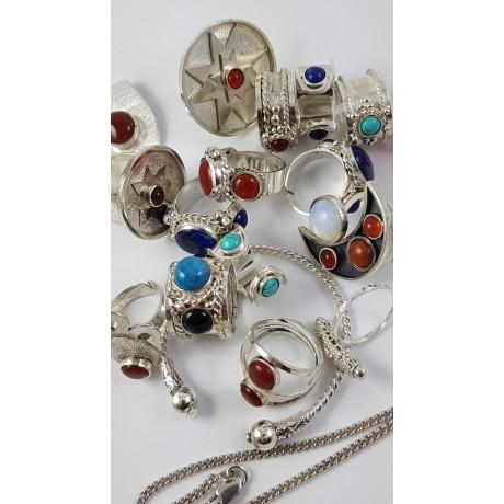 Sterling silver ring Blue Grooming, Bijuterii de argint lucrate manual, handmade