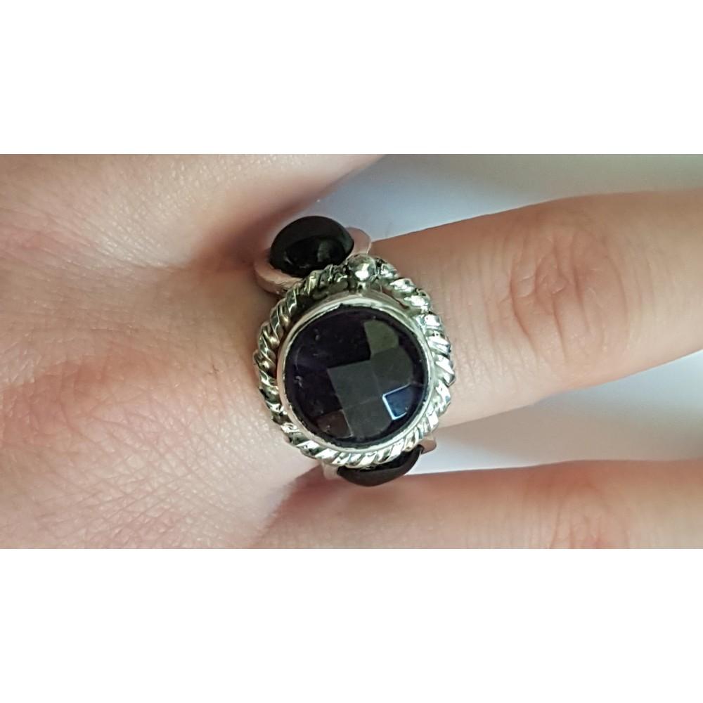 Sterling silver ring Prisms