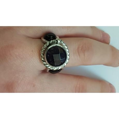 Sterling silver ring Prisms, Bijuterii de argint lucrate manual, handmade