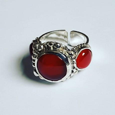 Sterling silver ring Ginger Pitch, Bijuterii de argint lucrate manual, handmade