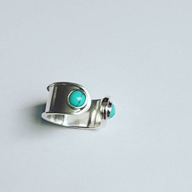 Sterling silver ring Turqoise Brim