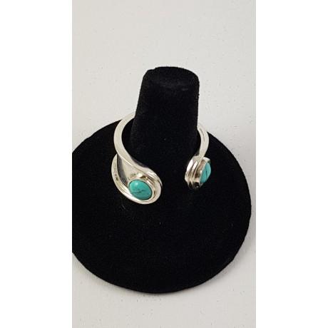 Sterling silver ring Turqoise Brim, Bijuterii de argint lucrate manual, handmade
