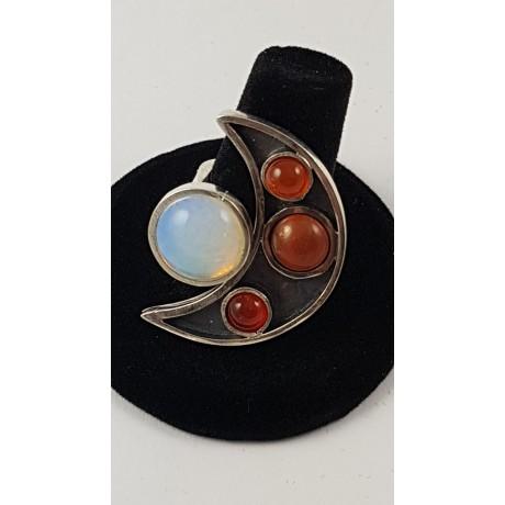 Sterling silver ring Go Halves & Quarters, Bijuterii de argint lucrate manual, handmade