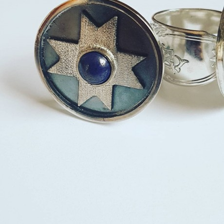 Sterling silver ring Crossroads, Bijuterii de argint lucrate manual, handmade