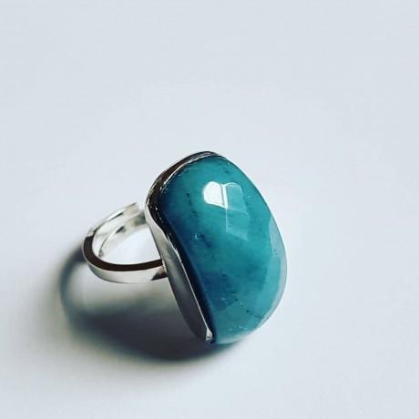 Sterling silver ring Bluish Emotions, Bijuterii de argint lucrate manual, handmade