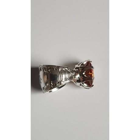 Sterling Silver ring Rococo Graces, Bijuterii de argint lucrate manual, handmade