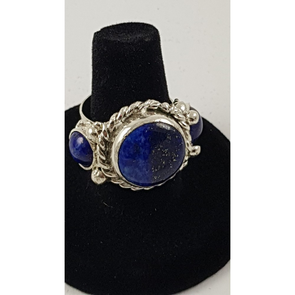 Sterling silver ring Blue Orchestra