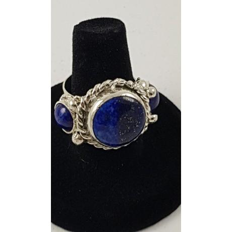 Sterling silver ring Blue Orchestra, Bijuterii de argint lucrate manual, handmade