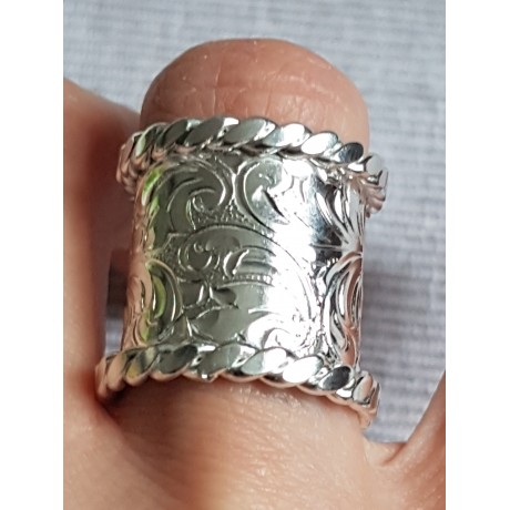 Wide Sterling silver rings, engraved, Establishment, Bijuterii de argint lucrate manual, handmade