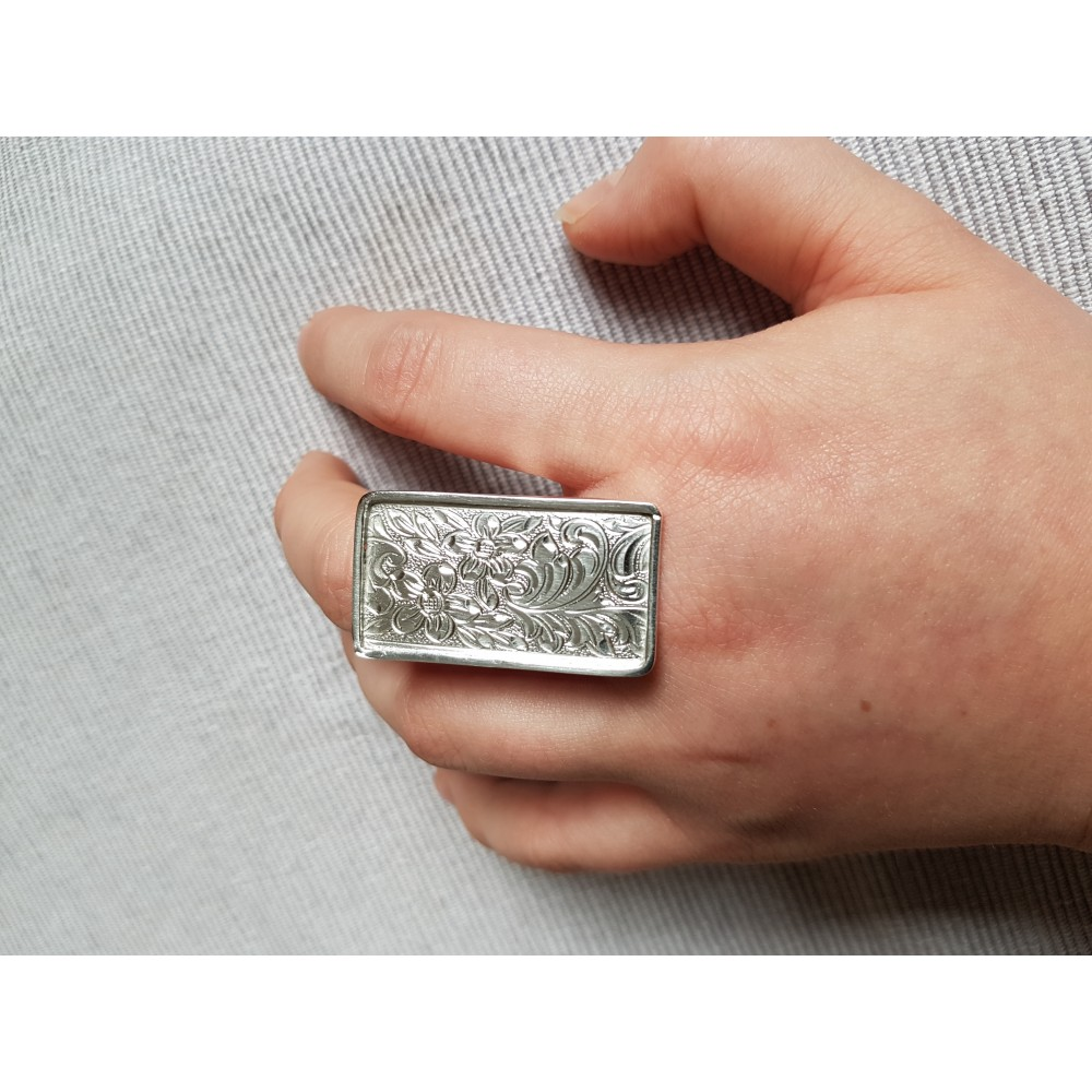 Sterling silver ring Flower Bed
