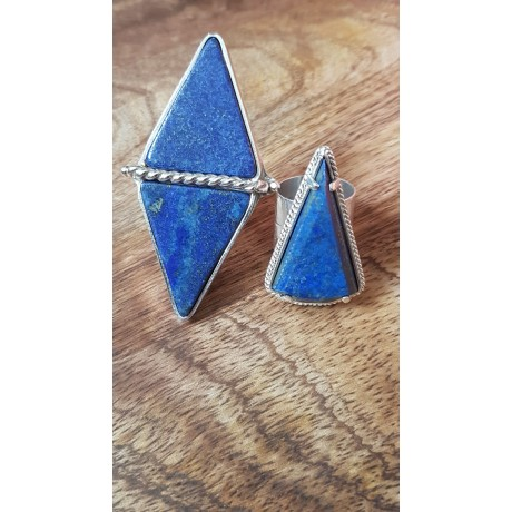 Sterling silver ring with natural lapislazuli Blue Diamond, Bijuterii de argint lucrate manual, handmade