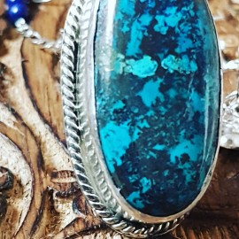 Large Sterling Silver ring with natural Azurite stone Lush Sparkles, Bijuterii de argint lucrate manual, handmade