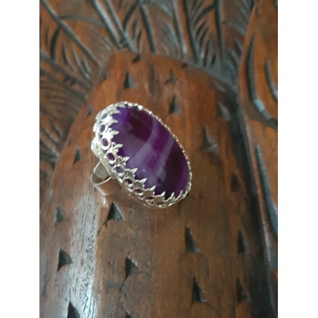 Sterling silver ring with natural agate stones PRECIOUS Flickers, Bijuterii de argint lucrate manual, handmade