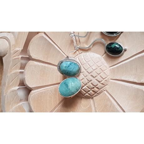 Sterling silver ring with natural aquamarine stone Green Genre, Bijuterii de argint lucrate manual, handmade
