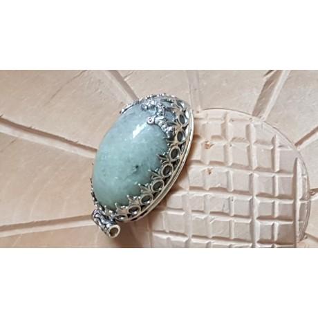 Massive Sterling silver pendant with natural lepidolite stone Outwit, Bijuterii de argint lucrate manual, handmade