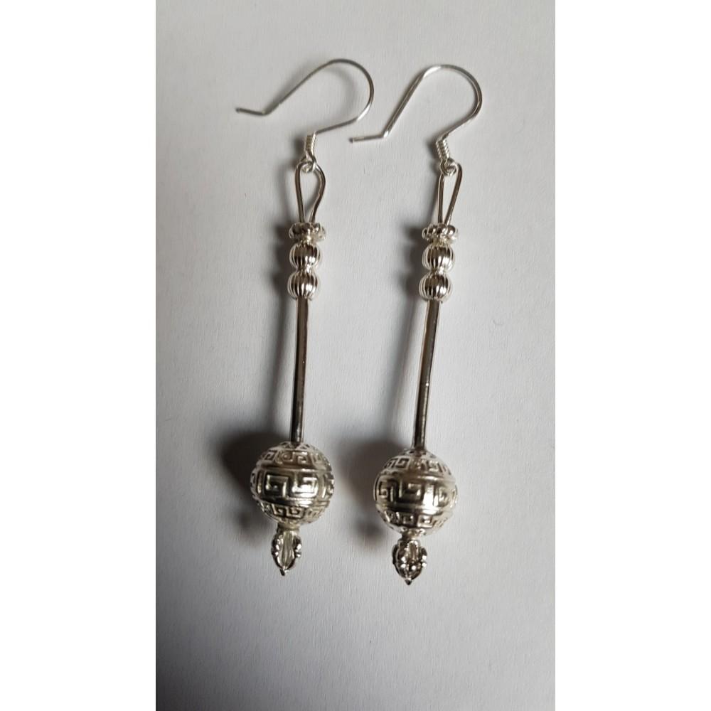 Sterling silver earrings Globes