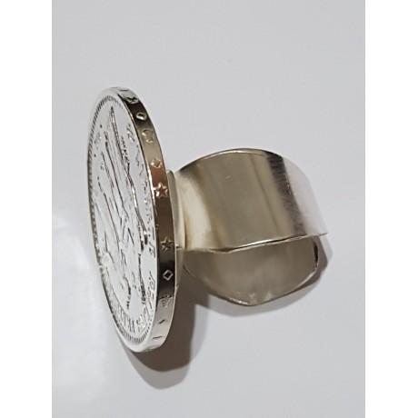 Large Sterling Silver ring Third coin, Bijuterii de argint lucrate manual, handmade